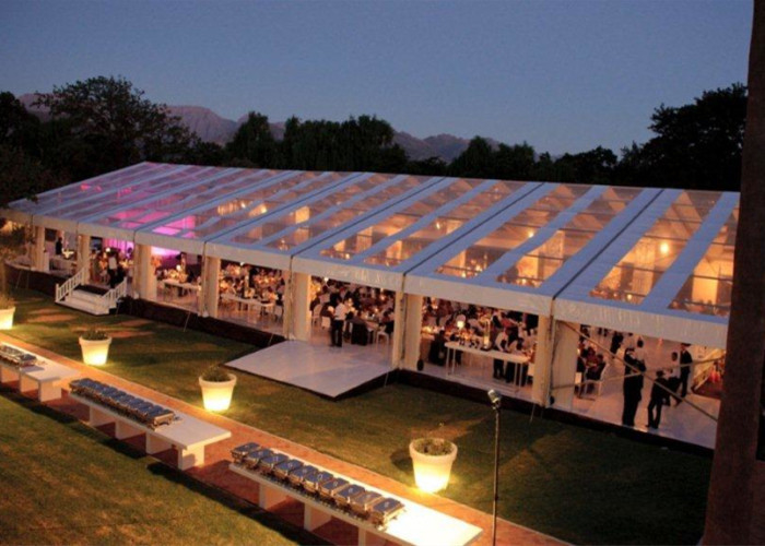 12x30m 300 Seaters Transparent Marquee Wedding Tent Clear Roof Fire Proof