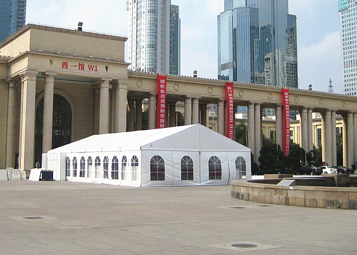 Sun Proof Steel Frame Marquee Birthday Party Tent , Party Tent With Windows