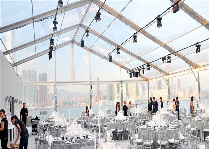Big Outdoor 20x50m Transparent Pvc Clear Roof Tent for Wedding Marquee